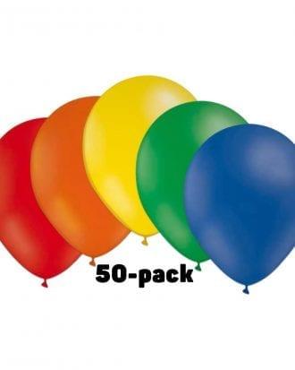 Ballongkombo Flerfärgad - 50-pack