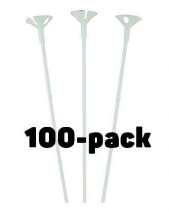 Ballongpinnar Vita - 100-pack