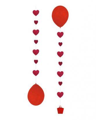 Ballongsvansar Hjärtan - 3-pack
