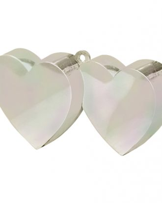 Ballongvikt Dubbla Hjärtan Färgskimrande