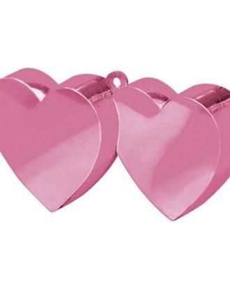 Ballongvikt Dubbla Hjärtan Rosa