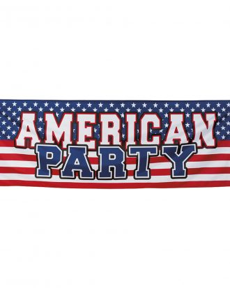 Banderoll American Party -  (74 x 220 cm)