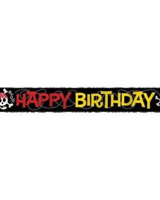 Banderoll Happy Birthday Piratkalas