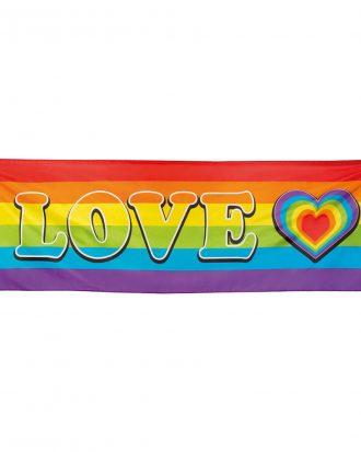 Banderoll Love Regnbågsfärgad