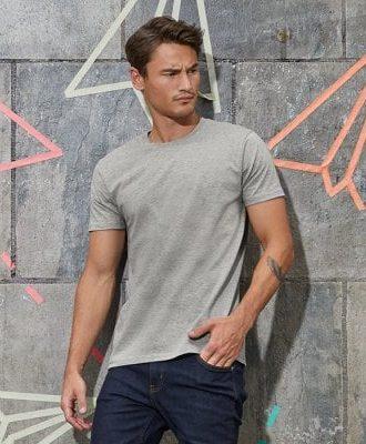 Basic T-shirt ljusgrå herr E150 (S)