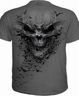 Bat skull t-shirt herr (XXL)