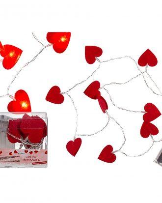 Batteridriven Ljusslinga Hjärtan