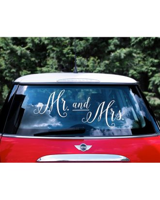 Bildekal Mr and Mrs