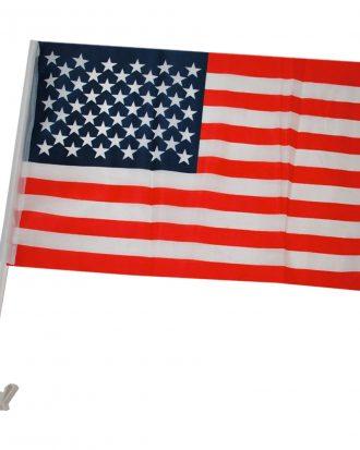 Bilflagga USA - 1-pack
