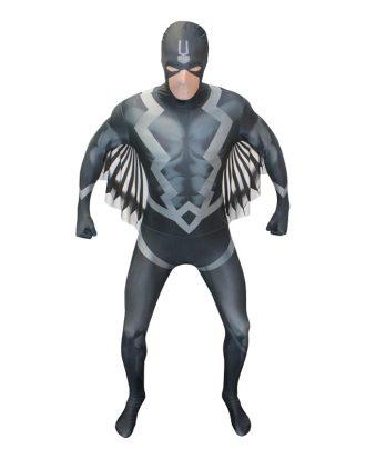 Black Bolt Deluxe Morphsuit Maskeraddräkt - X-Large