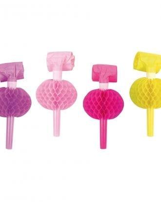 Blåsorm Rosa/Lila/Gul/Cerise Honeycomb - 8-pack