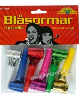 Blåsormar Metallic - 6-pack