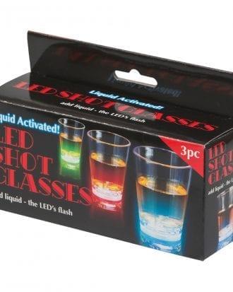 Blinkande Shotglas - 3-pack