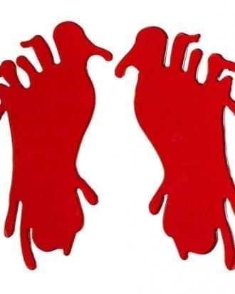 Blodiga Fötter Fönsterdekoration