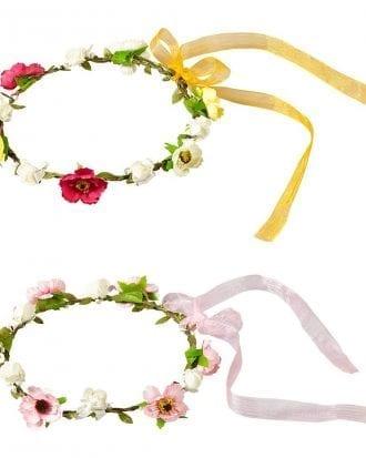 Blomsterkrans med Band - One size