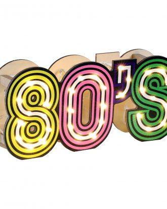 Bordsdekoration 80's LED