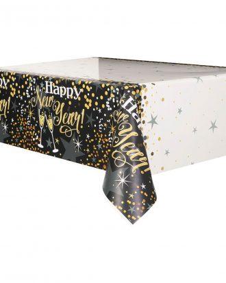 Bordsduk Happy New Year Glitter