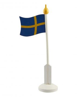 Bordsflagga i Trä Sverige - 37 cm