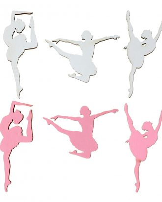 Bordskonfetti Ballerinor Rosa/Vit - 10-pack