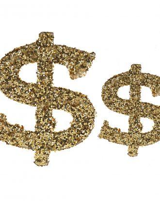 Bordskonfetti Casino Guld/Glitter - 20-pack
