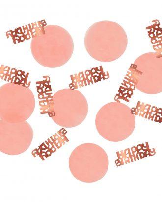 Bordskonfetti Happy Birthday Lush Blush - 25 gram