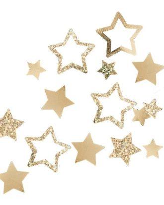Bordskonfetti Stjärnor Guld - 13 gram