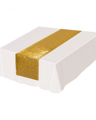 Bordslöpare med Guldpaljetter