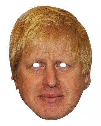 Boris Johnson Pappmask