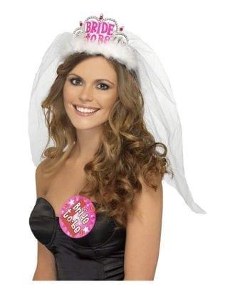 Bride to Be Tiara med Slöja - One size