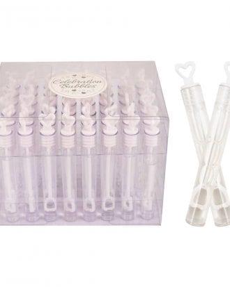 Bröllopsbubblor med Hjärta - 48-pack