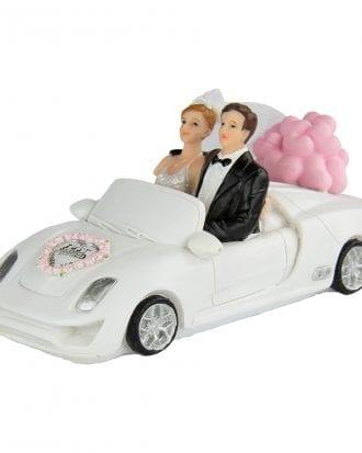 Bröllopsfigur Brudpar i Bil