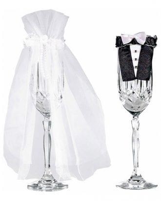 Brudpar Glasdekoration - 2-pack