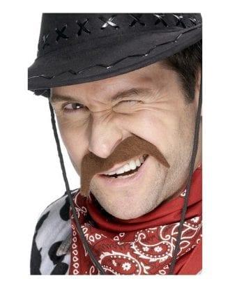 Brun Cowboy Mustasch