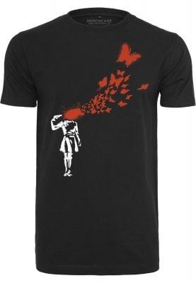 Banksy Butterfly T-shirt (L)