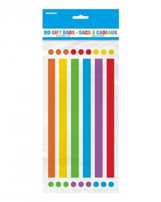 Cellofanpåsar Rainbow - 20-pack