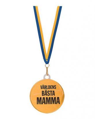 Chokladmedalj med Text - Världens Bästa Mamma