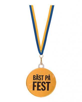 Chokladmedalj med Text - Bäst På Fest