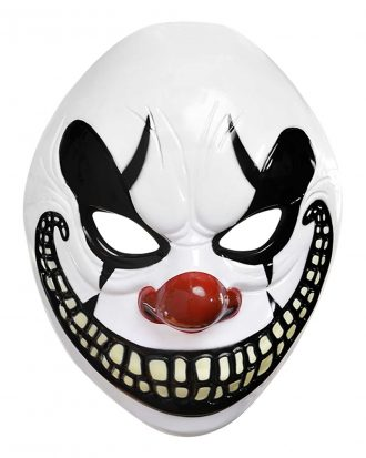 Clown Halloween Plastmask - One size