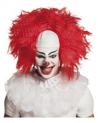 Clownperuk Röd med Vit Flint