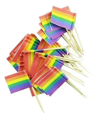 Cocktailflagga Pride - 50-Pack