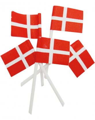 Cocktailflaggor Danmark Mini - 50-pack