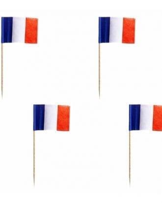 Cocktailflaggor Frankrike - 500-pack