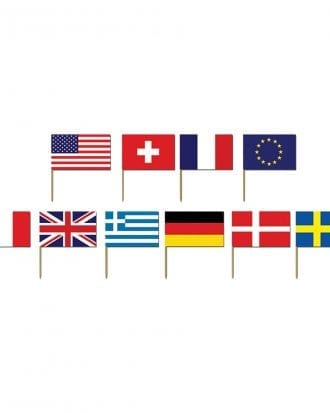 Cocktailflaggor Internationella Flaggor - 50-pack