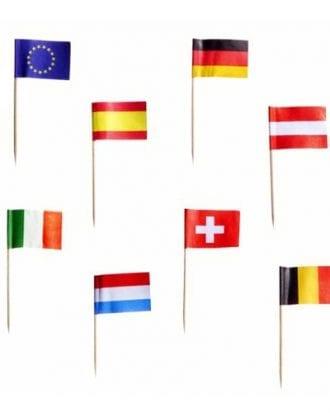 Cocktailflaggor Nations - 50-pack