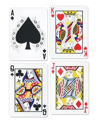 Cutouts Spelkort - 4-pack