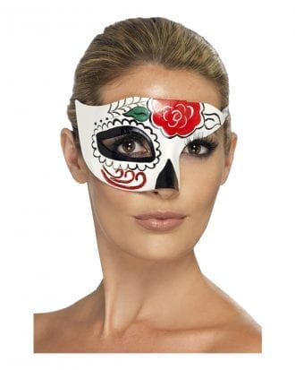 Day of the Dead Halv Ögonmask - One size