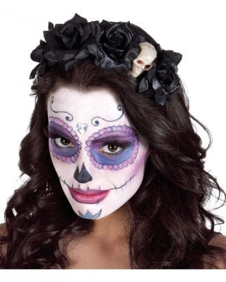 Day of the Dead Diadem med Rosor - One size