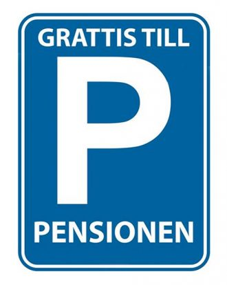 Dekoration Grattis Till Pensionen