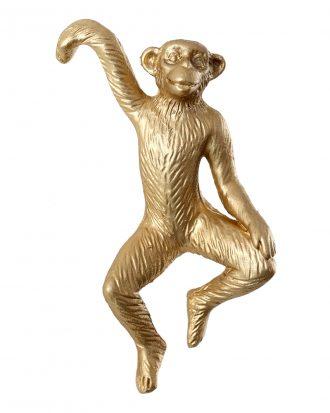 Dekoration Hängande Apa Guld - 3-pack