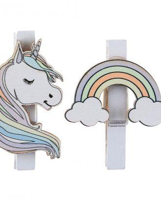 Dekoration på Klämma Unicorn - 6-pack